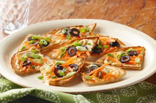 Hummus & Vegetable Pita Toasts
