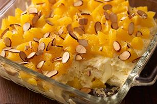 Fluffy Layered Orange Dessert