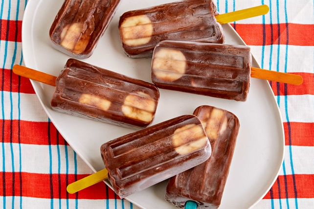 Banana-Chocolate Pudding Pops