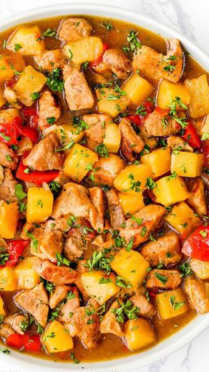 Instant Pot Hawaiian Pineapple Pork
